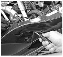Rear Shock Compression Damping Adjuster: Buell 1125 Models