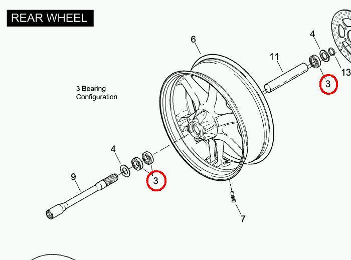roulements de roue ar xb 12x