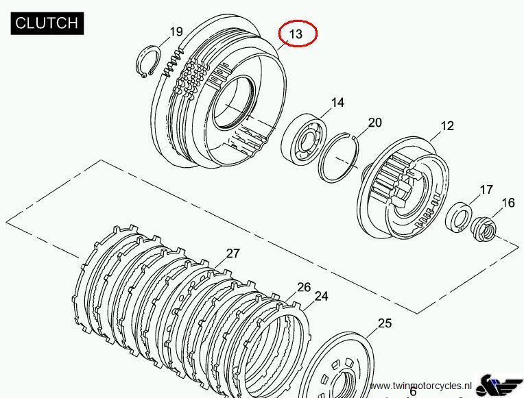 2007 harley clutch diagram