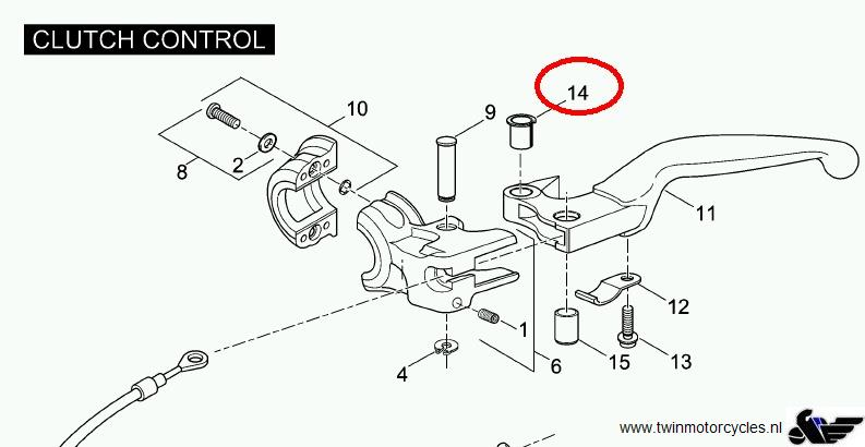 motorcycle clutch lever diagram